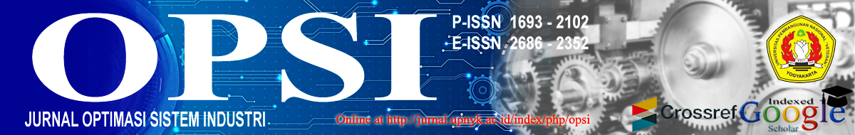 Jurnal OPSI - Optimasi Sistem Industri